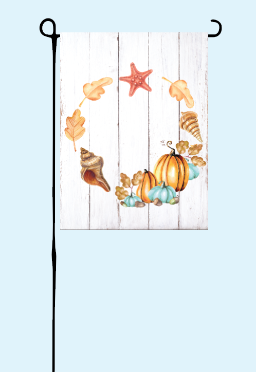 Shells & Pumpkin Flag
