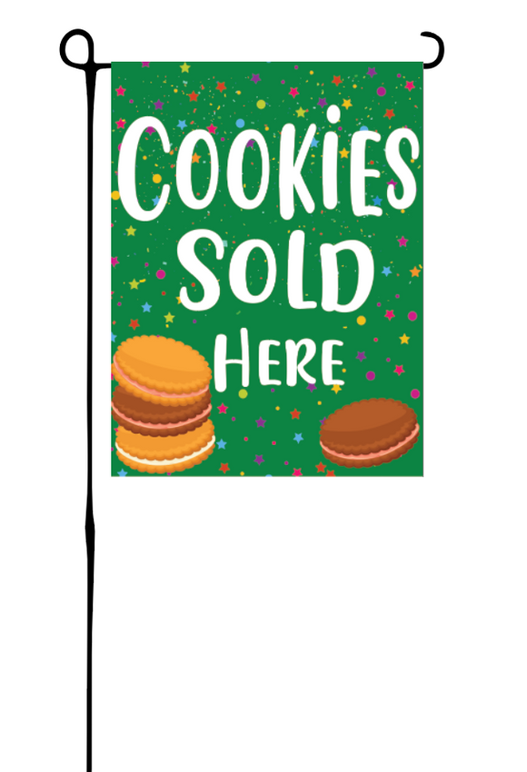 Cookie's Sold Here Garden Flag