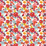 Red, Purple & Yellow Floral Printed Vinyl