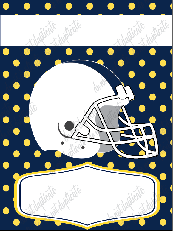 Navy &  Yellow Football Garden Flag