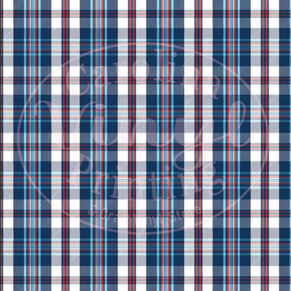 Patriotic Plaid Printed Vinyl