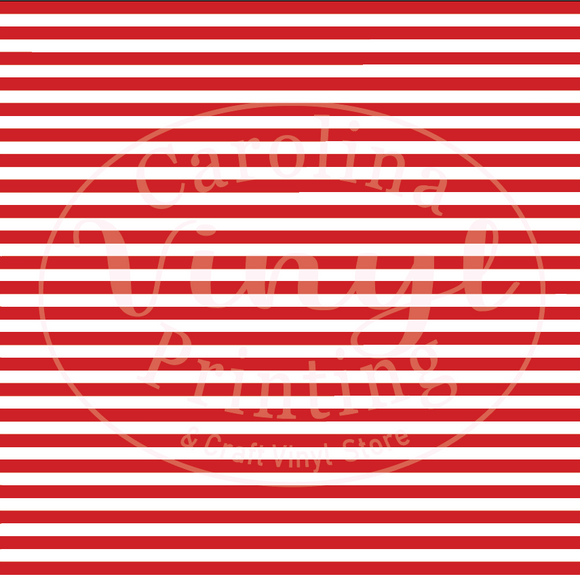 Red & White Stripes Printed Vinyl