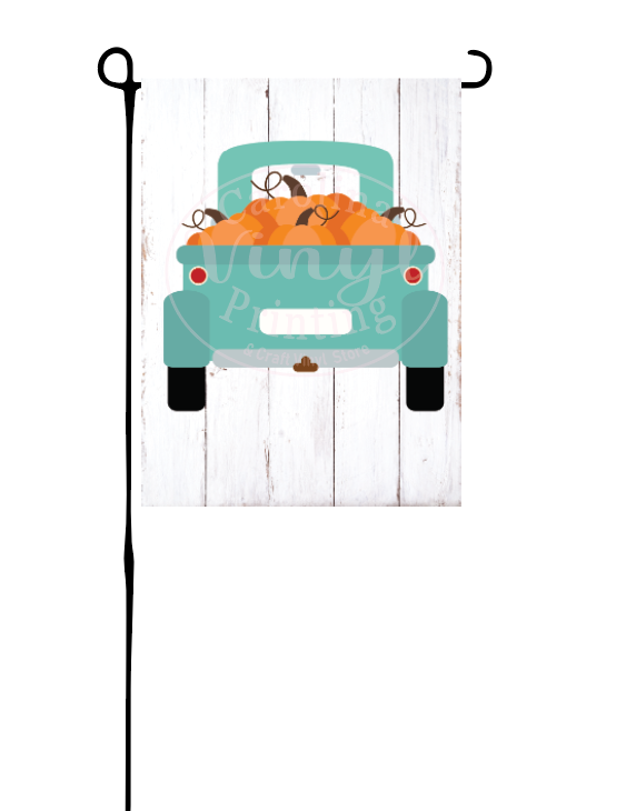 Mint Green Pumpkin Truck Flag