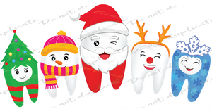 Christmas Teeth Heat Transfer