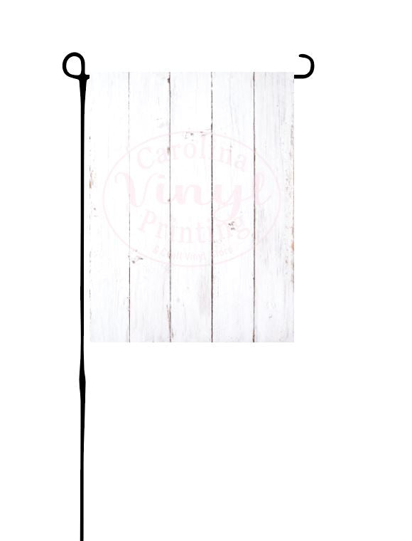 White faux Wood Background Flag