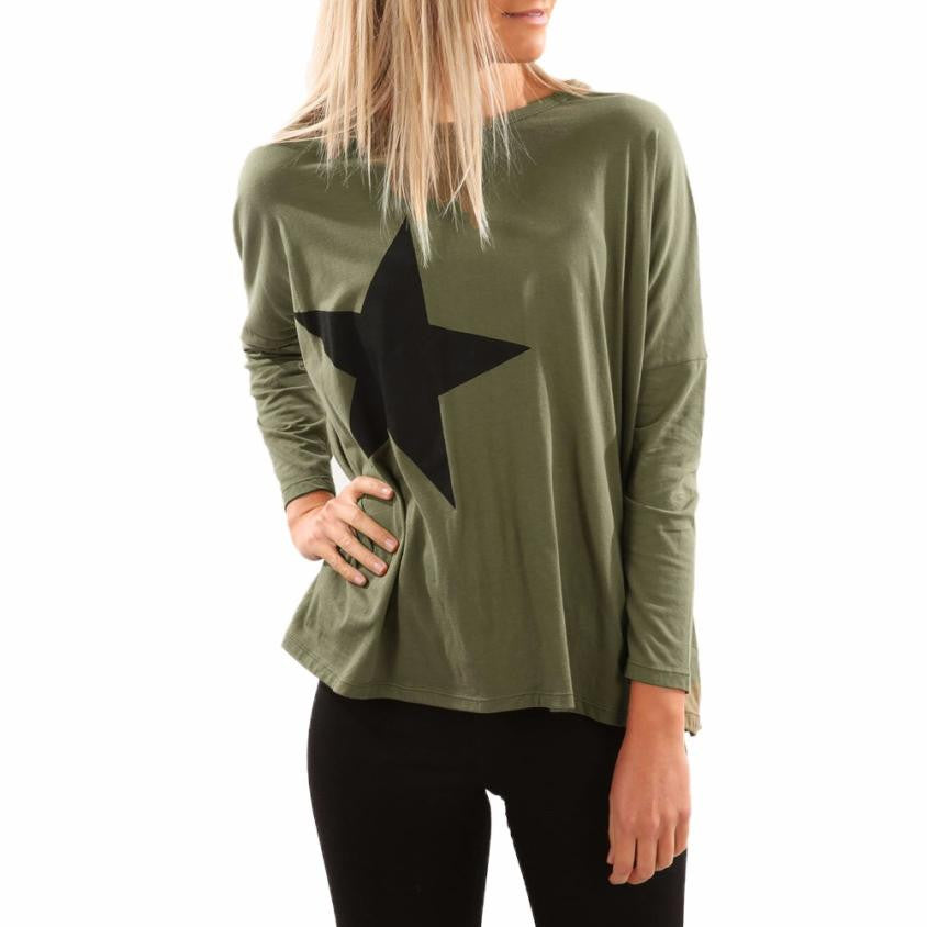 Autumn O-neck Pullovers Sweatshirts