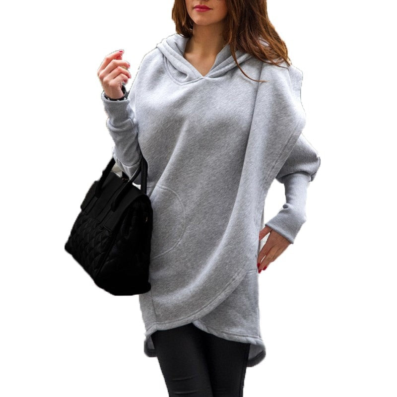 Long Sleeve Asymmetric Hem Outwear