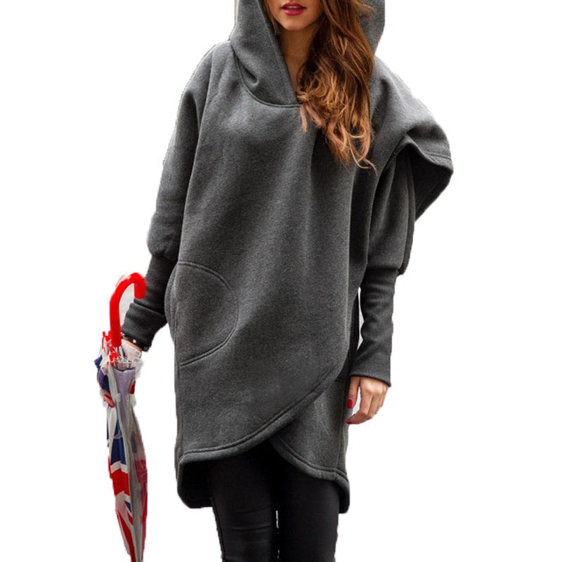 Full Sleeve Irregular Hem Outwear