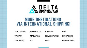 DELTA Sportswear ships to more destinations via International Shipping!