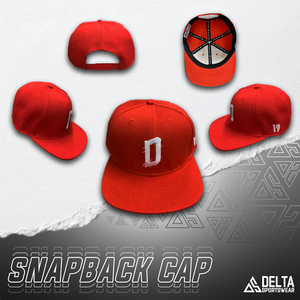 DELTA 'D' Signature Series Snapback Cap (Red)