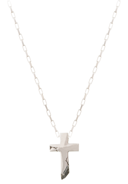 cracked cross necklace