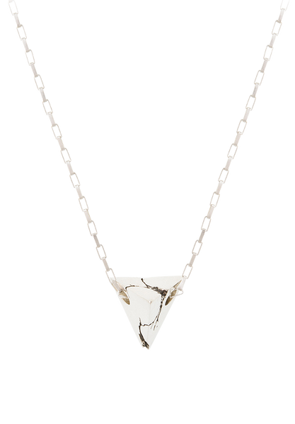 cracked pyramid necklace