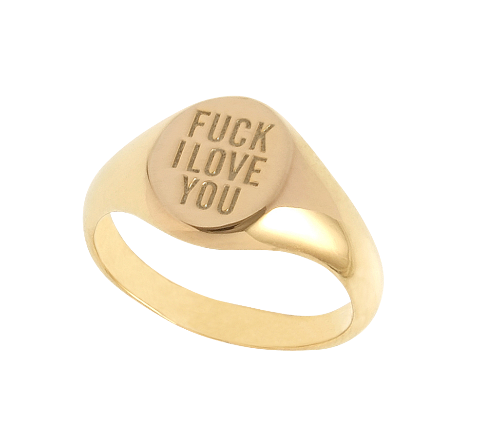 Cast Of Vices x Herman Fuck I Love You Ring in Metallic Silver EomTYzbRY8