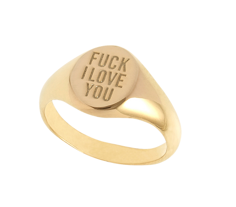 HERMAN 'Fuck I Love You' Gold Ring