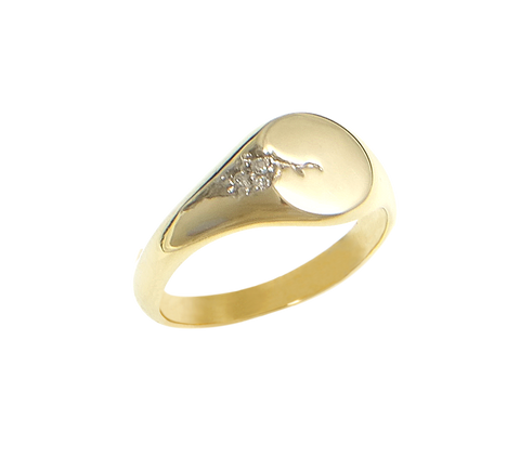 cracked gold lux signet ring
