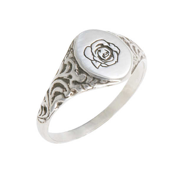 Herman 'paradise city' signet ring