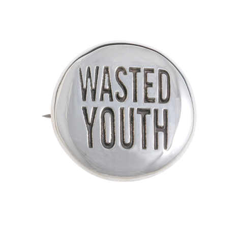Herman WASTED YOUTH Badge