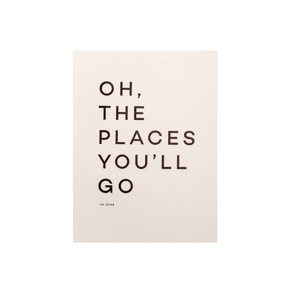 Travel Quote Letterpress Print