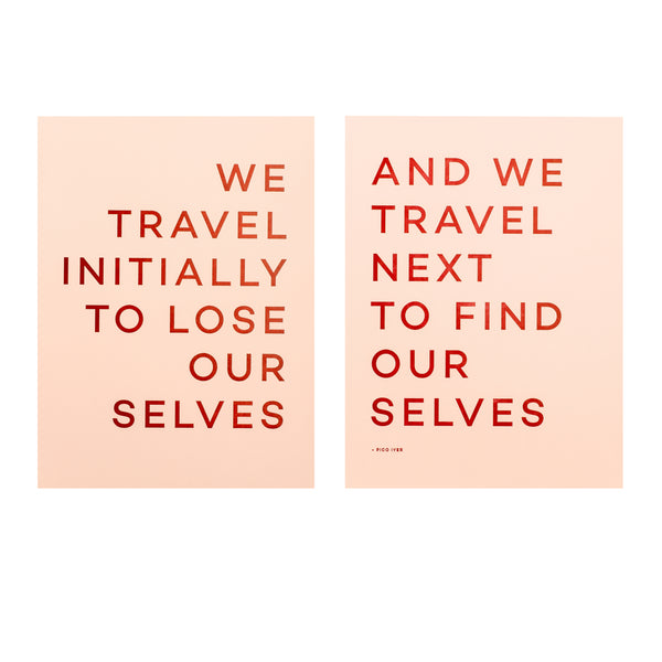 Set of Two Letterpress Quote Prints