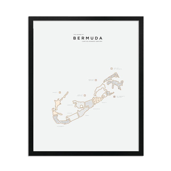 Black Framed Bermuda Print
