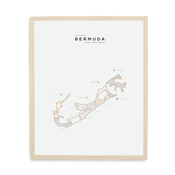 Wood Framed Bermuda Print