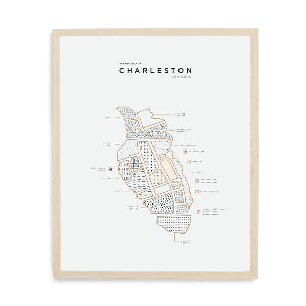 Charleston State Print - Wood Frame