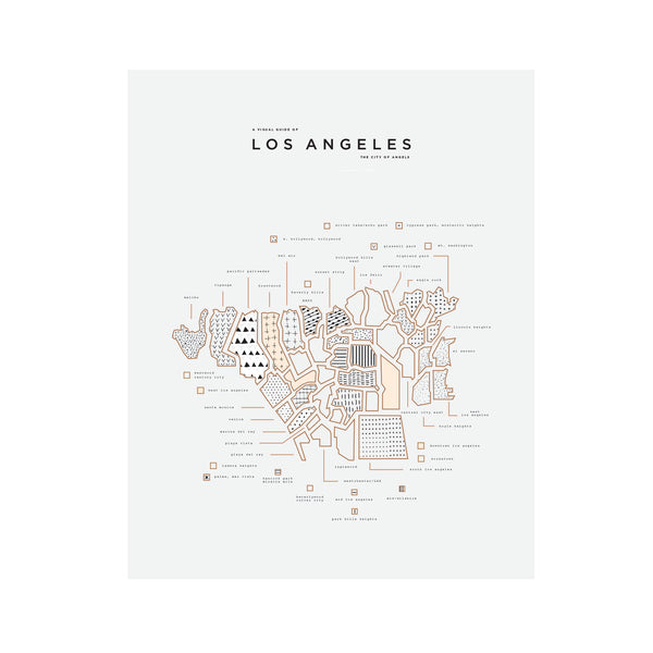 picture relating to Printable Maps of Los Angeles identify Los Angeles Town Print - no body