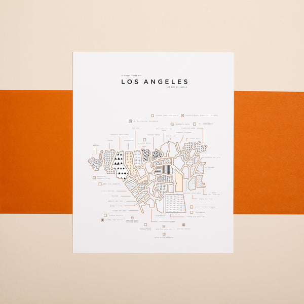 Lost Angeles Map Print