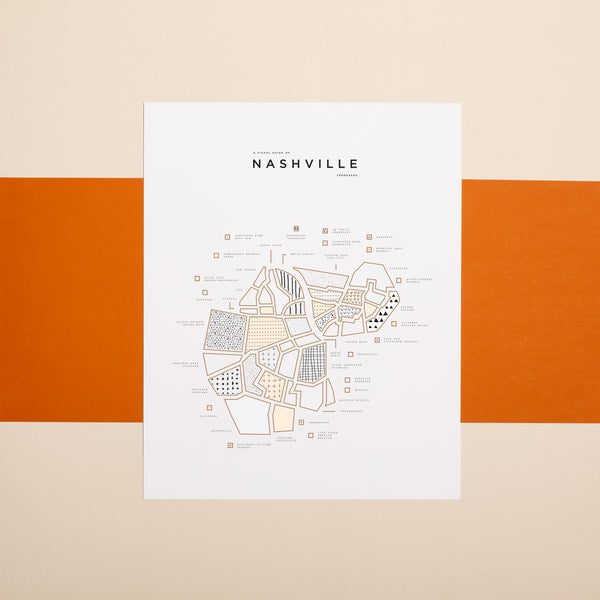 Nashville City Map Print