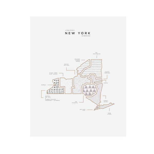 New York State Letterpress Print