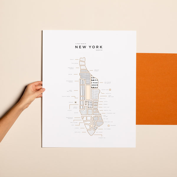 New York New York Map Print