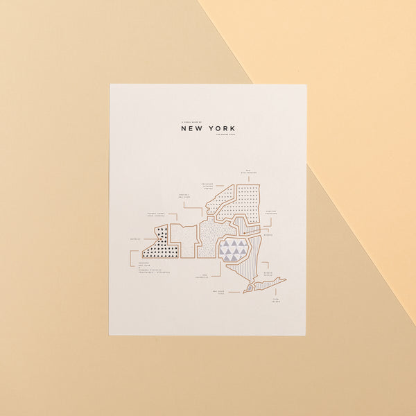 New York Map Print