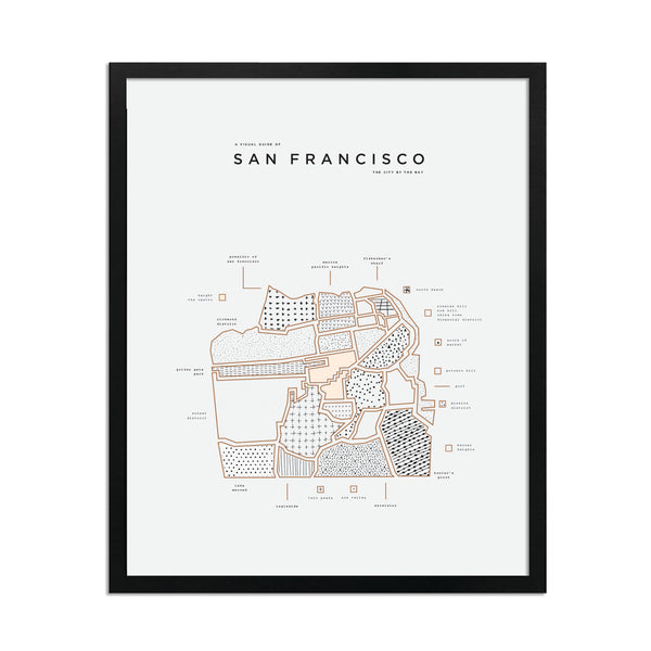 San Francisco Map Print - Black Frame