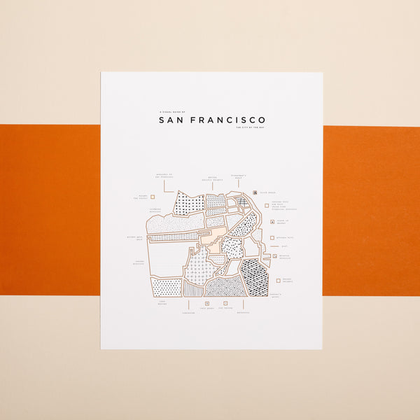 SF California Map Print