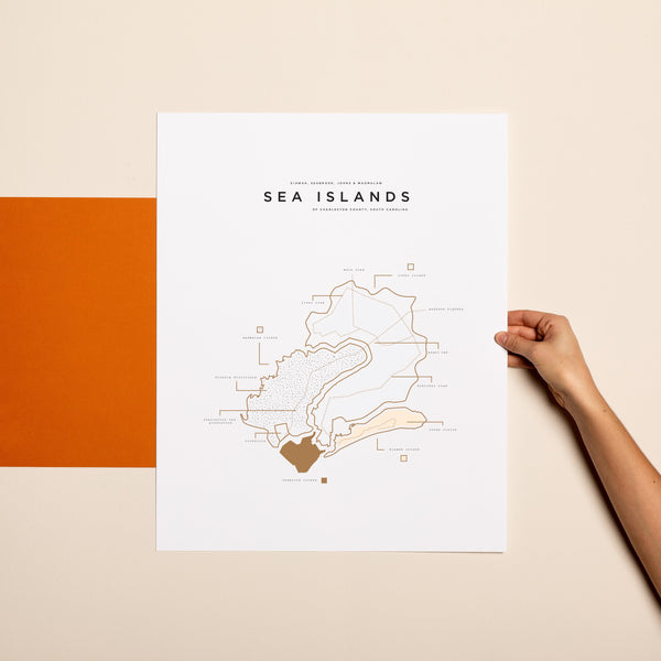 Sea Islands Map Print