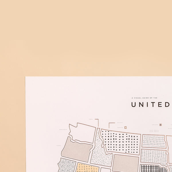 United States Map Print