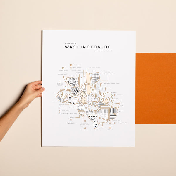 Washington DC Letterpress Print