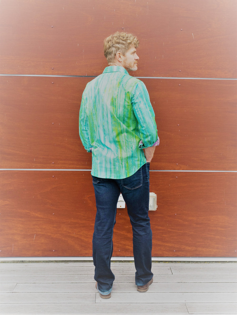 Mayestik Market Shirt - Graffiti Green