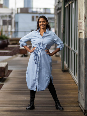 Accra Art Centre Shirtdress, Business Blue
