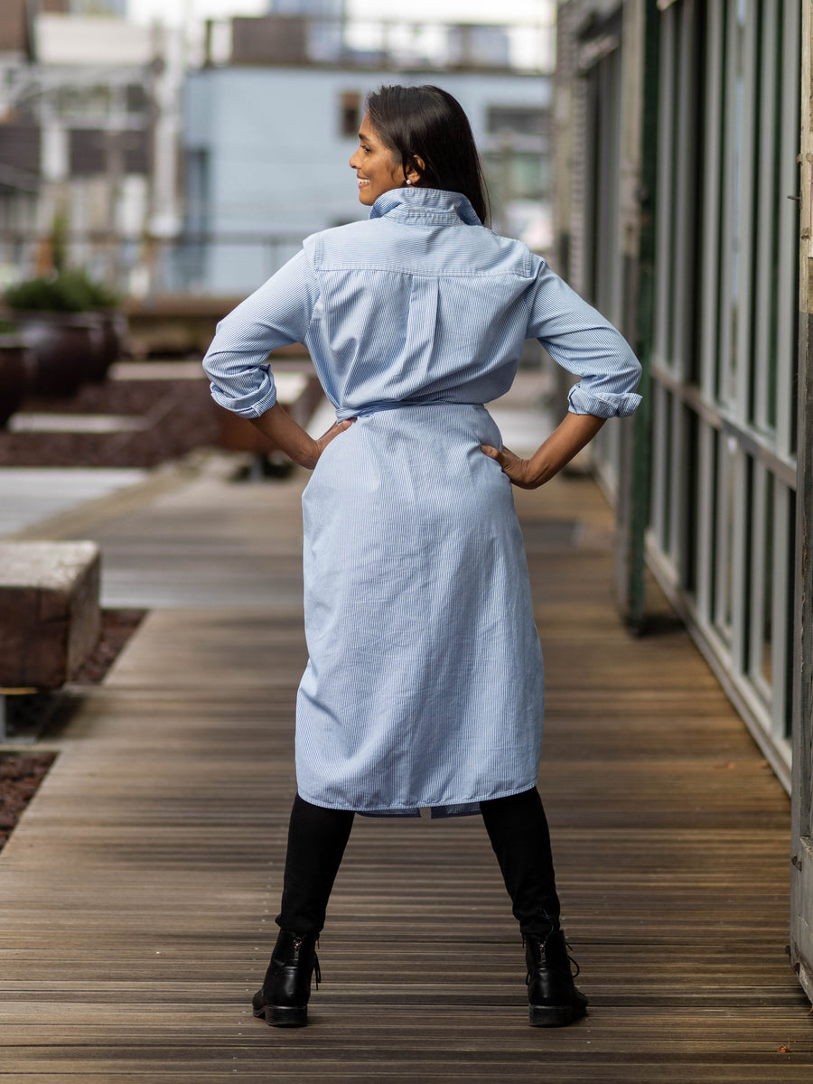 [SOLD OUT] Accra Art Centre Shirtdress, Business Blue
