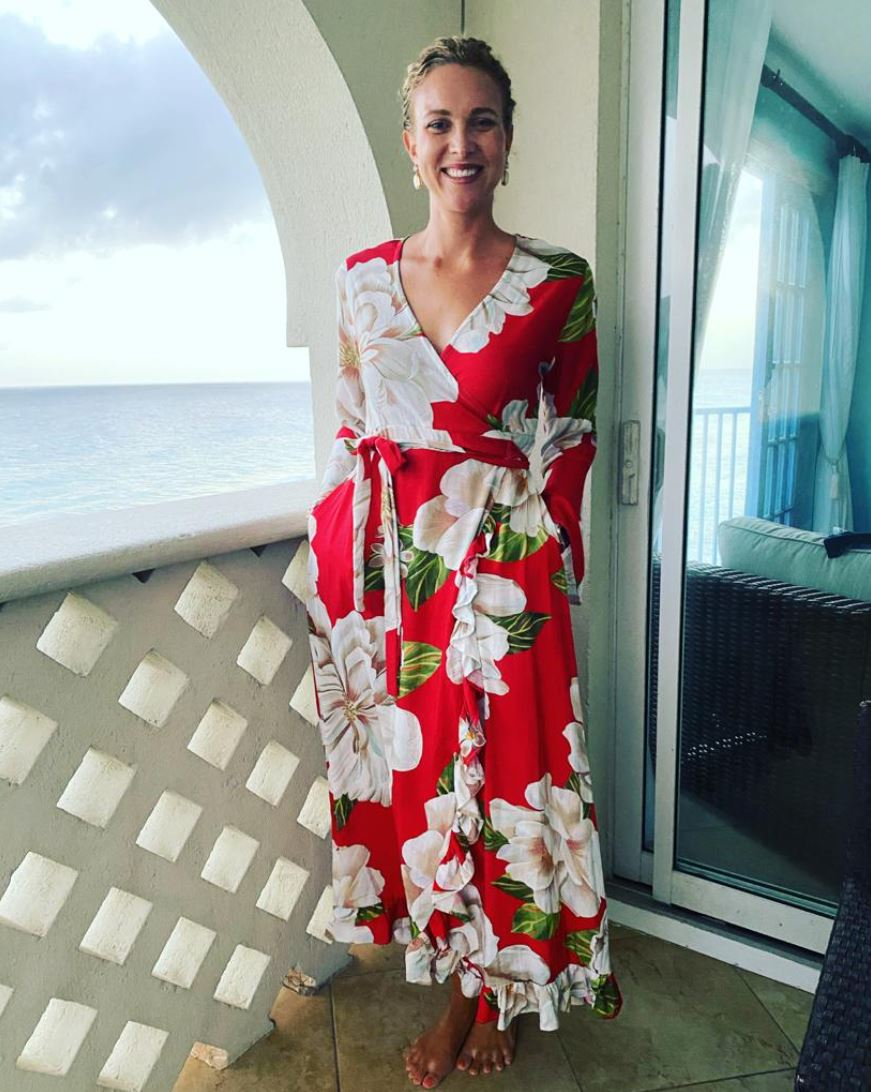 The Worthing Wrapdress, Morning Blooms Linen