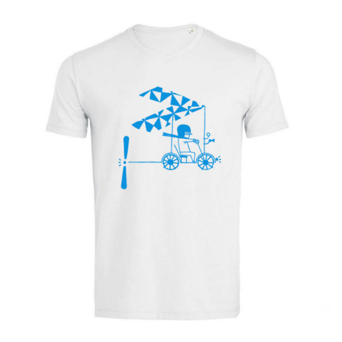 Tee-shirt blanc Aviation Sans Frontières