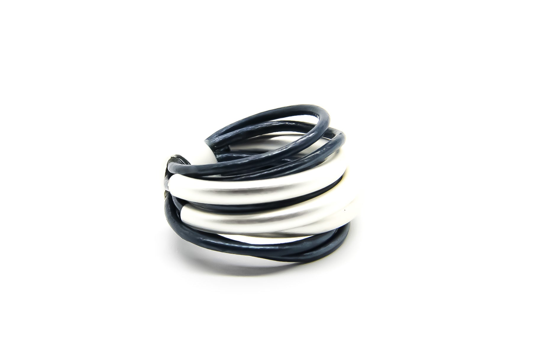 Blue and Silver Multi-strand Ring | Contemporary Ring Design | Ultra-Modern Jewellery | Ben's Beach