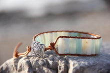 Load image into Gallery viewer, Amazonite Stone Wrap Bracelet | Ben's Beach Jewellery UK