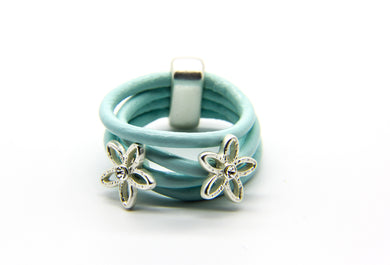 Blue Leather Ring | Beach Jewellery | Ben's Beach