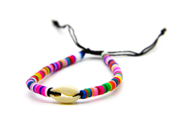 Braided Sea Bracelet - Rainbow Colours