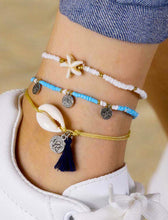 Load image into Gallery viewer, Anklets UK | Ben's Beach | Cowrie Shell | Tassel | Coins Pendants | Starfish | Ben's Beach