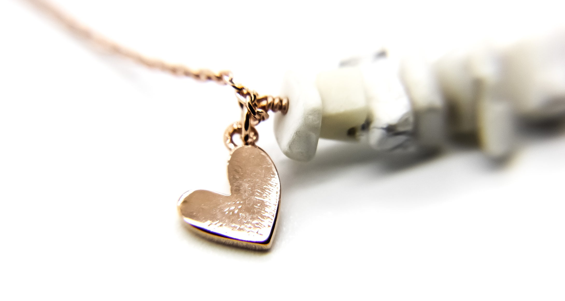 Rose Gold Beach Anklet | Heart Pendant | Ben's Beach