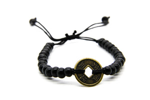 Black Wooden Beaded Bracelet | Surf-Girl Jewellery | Sustainable and Fair Trade Jewellery | Ben's Beach UK