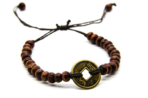 Natural Wood Beaded Bracelet | Ben's Beach Surf Jewellery UK | Fair Trade Sustainable Jewellery